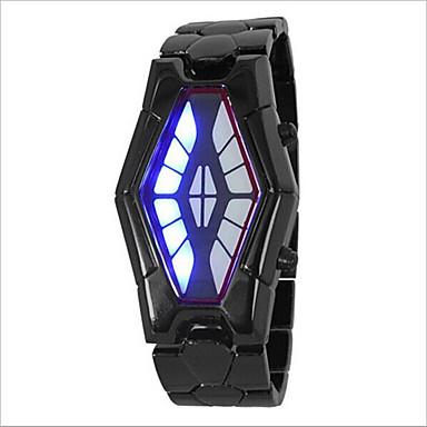 Férfi Női Páros Divatos óra Egyedi kreatív Watch Digitális LED Vízálló ötvözet Zenekar Kreatív Fekete EzüstEzüst Fekete/Piros Fekete és