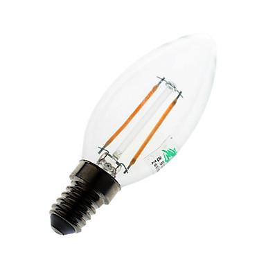 180 lumens lm E14 LED gyertyaizzók C35 2 led COB Dekoratív Meleg fehér AC 220-240V