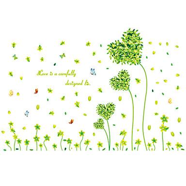 경치 정물 로맨스 패션 꽃 보타니칼 휴일 Leisure 벽 스티커 플레인 월스티커 데코레이티브 월 스티커, PVC 홈 장식 벽 데칼 벽