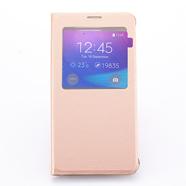 tok Για Samsung Galaxy Samsung Galaxy Note με βάση στήριξης με παράθυρο Πλήρης Θήκη Συμπαγές Χρώμα PU δέρμα για Note 5