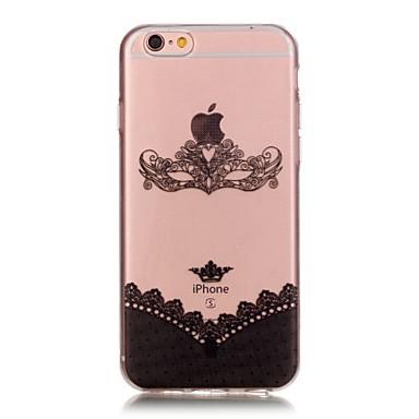 Mert iPhone 6 tok / iPhone 6 Plus tok Átlátszó Case Hátlap Case Csipke dizájn Puha TPU AppleiPhone 6s Plus/6 Plus / iPhone 6s/6 / iPhone