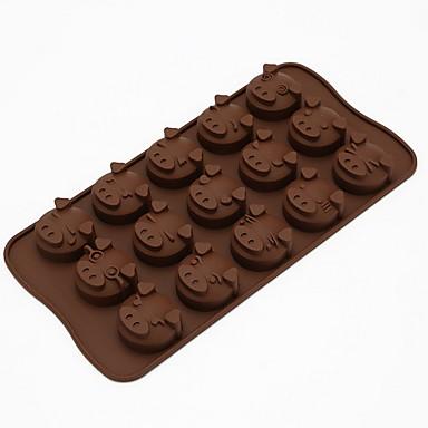 DIY 틀 베이킹 몰드 만화 모양 케이크 초콜렛 파이 실리콘 친환경적인 DIY 휴일