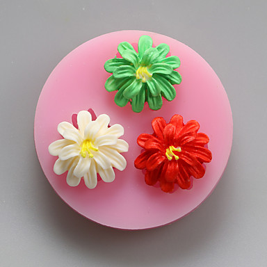 베이킹 몰드 꽃장식 만화 모양 초콜렛 파이 쿠키 케이크 실리콘 환경친화적인 DIY 휴일