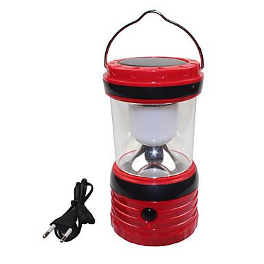 6 태양의 USB 출력은 흰색 야외 캠핑 하이킹 랜턴 텐트 램프 빛을 주도