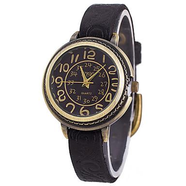 여성용 스켈레톤 시계 패션 시계 석영 캐쥬얼 시계 가죽 밴드 스파클 참 멋진 블랙 화이트 블루 레드 오렌지 브라운 그린 멀티컬러