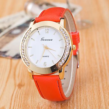 Pentru femei Ceas de Mână Ceas Elegant Ceas La Modă Ceas Sport Quartz Piele Autentică Bandă Charm Casual Multicolor