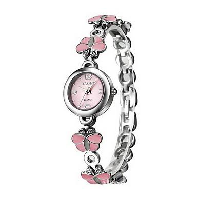 여성용 드레스 시계 팔찌 시계 석영 일본 쿼츠 / 합금 밴드 나비 우아한 실버