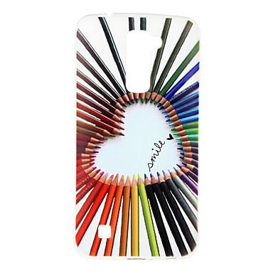 Kompatibilitás LG tok tokok Minta Hátlap Case Szív Puha Hőre lágyuló poliuretán mert LG J5 (2016) LG K10 LG K7 LG G5 LG G4 LG V10