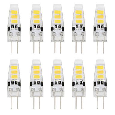 YouOKLight 10pcs 2W 150-200lm G4 LED Bi-pin 조명 T 6 LED 비즈 SMD 5733 장식 따뜻한 화이트 차가운 화이트 12V