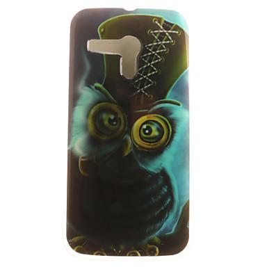 Mert Motorola tok Minta Case Hátlap Case Bagoly Puha TPU Motorola Moto G