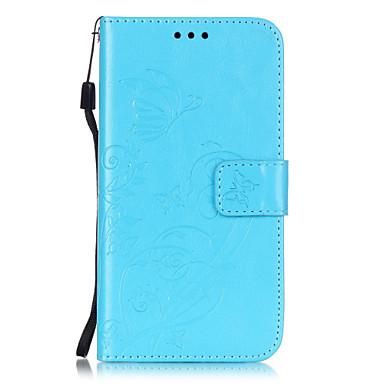 용 LG케이스 카드 홀더 / 지갑 / 스탠드 / 플립 / 엠보싱 텍스쳐 케이스 풀 바디 케이스 꽃장식 하드 인조 가죽 LG LG K10 / LG K7 / LG K4 / LG G5 / LG G4