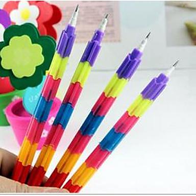 한국어 문구 창조적 인 무지개 다기능 총알 컬러 연필 변형 부 (8) 상품의 1 개