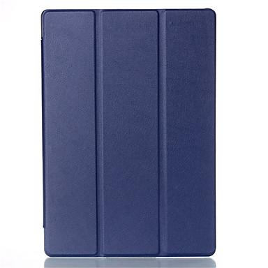 Case Kompatibilitás Héjtok Tablet tokok Tömör szín Kemény PU bőr mert