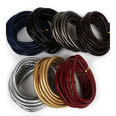 beadia 6mm varrt műbőr zsinór kötél karakterlánc diy ékszer nyaklánc karkötő kézműves készítés (3mts)