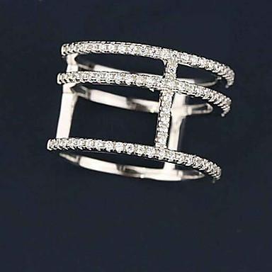 Női Karikagyűrűk Alkalmi Divat Keresztpántos Réz Ékszerek Kompatibilitás Napi Hétköznapi