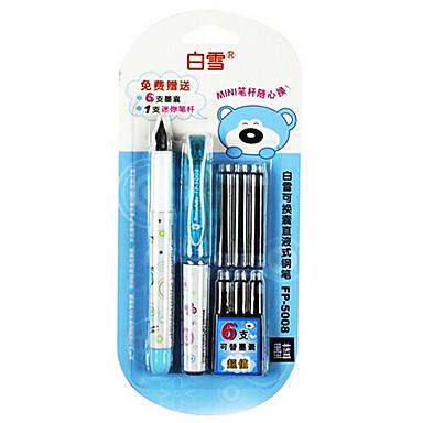 Toll Toll Töltőtoll Toll,Műanyag Fém Hordó Ink Colors For Iskolai felszerelés Irodaszerek Csomag