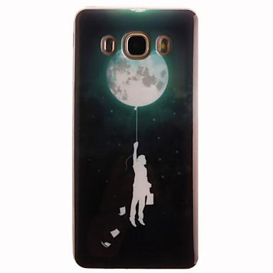 Case Kompatibilitás Samsung Galaxy Samsung Galaxy tok IMD Fekete tok Rajzfilm Puha TPU mert J7 (2016) J5 (2016) J5 J1 Ace J1 (2016) J1