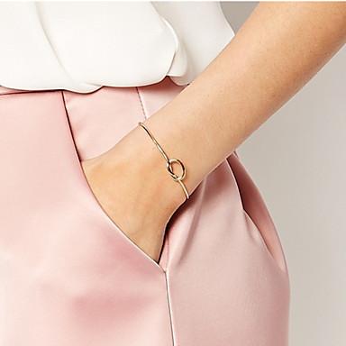 Femme Bracelets Rigides / Manchettes Bracelets - Rétro, Basique, Style Simple Bracelet Argent / Doré / Or Rose Pour Regalos de Navidad / Quotidien / Décontracté