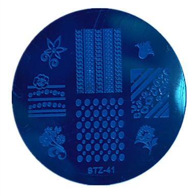 1 Nail bélyegzés Képsablon lemezek Stamper kaparó