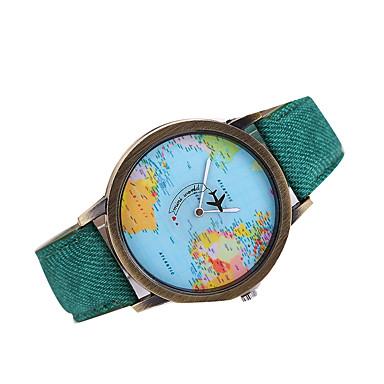 f9b585d4e2cf Hombre Reloj de Pulsera Mapa del mundo Cuarzo Cuarzo Japonés Piel Negro    Blanco   Marrón Reloj Casual Mapa del Mundo Patrón Analógico Encanto  Clásico Reloj ...
