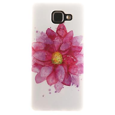 용 삼성 갤럭시 케이스 IMD / 패턴 케이스 뒷면 커버 케이스 꽃장식 소프트 TPU Samsung A7(2016) / A5(2016) / A3(2016) / A5 / A3