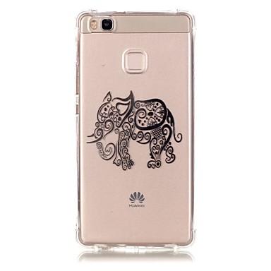 용 화웨이 케이스 / P9 / P9 Lite / P8 Lite 패턴 케이스 뒷면 커버 케이스 코끼리 소프트 TPU Huawei 화웨이 P9 / 화웨이 P9 라이트 / Huawei P8 Lite
