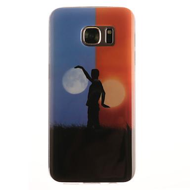Kompatibilitás Samsung Galaxy S7 Edge tokok Minta Hátlap Case Rajzfilm Puha Hőre lágyuló poliuretán mert Samsung Galaxy S7 edge S7 S6