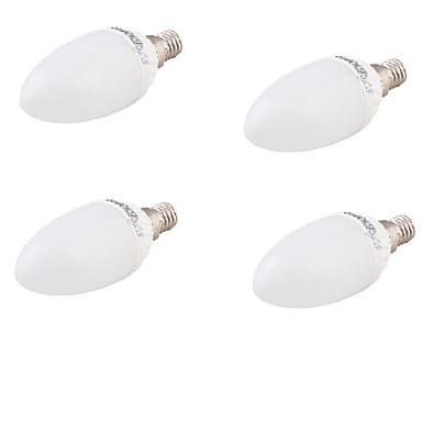 E26/E27 LED gyertyaizzók A60(A19) 10 led SMD 5730 Dekoratív Meleg fehér 320lm 3000K AC 85-265 AC 220-240 AC 100-240 AC 110-130V