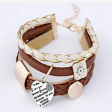 Női Wrap Karkötők Bőr Karkötők Divat Bohemia stílus Bőr Circle Shape Szerelem Ékszerek Kompatibilitás Napi Hétköznapi Karácsonyi ajándékok