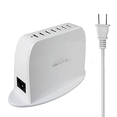 US플러그 전화 USB 충전기 멀티 포트 cm 아울렛 7 USB 포트 2.1A 2A 0.5A AC 100V-240V