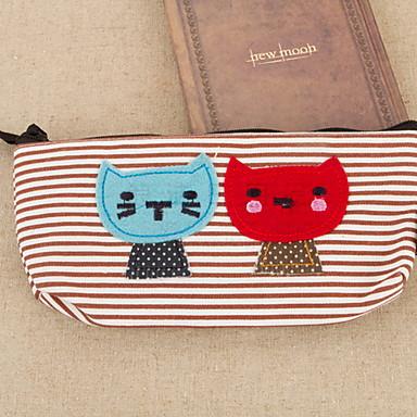 고양이 섬유 만화 문구 가방
