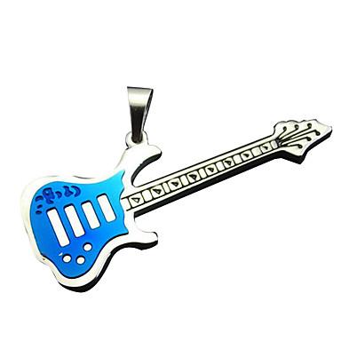 gitár szerelmesei - kék színű nagy nyaklánc
