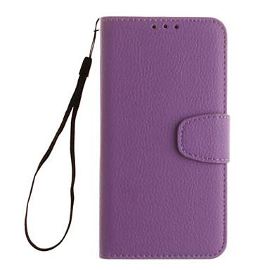 Case Kompatibilitás Samsung Galaxy Samsung Galaxy tok Kártyatartó Pénztárca Állvánnyal Flip Héjtok Tömör szín Puha PU bőr mert S5 Mini S4