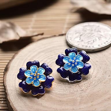 diy ékszer kék virág stílus bája