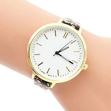 여성용 패션 시계 석영 캐쥬얼 시계 섬유 밴드 멀티컬러