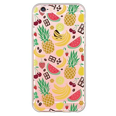 Kompatibilitás iPhone 6 tok iPhone 6 Plus tok tokok Ultra-vékeny Átlátszó Minta Hátlap Case Gyümölcs Puha Hőre lágyuló poliuretán mert