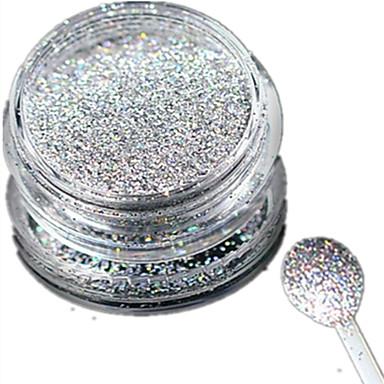 1 pcs Köröm ékszer / Glitter & Poudre / Púder Glitters / Klasszikus / Esküvő Napi / Glitter & Sparkle