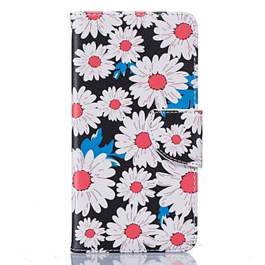 Case Kompatibilitás LG K8 LG LG K10 LG K7 LG tok Kártyatartó Pénztárca Állvánnyal Flip Minta Héjtok Virág Kemény PU bőr mert