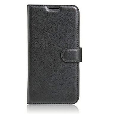 Voor LG hoesje Kaarthouder / Portemonnee / met standaard / Flip hoesje Volledige behuizing hoesje Effen kleur Hard PU-leer LG Other