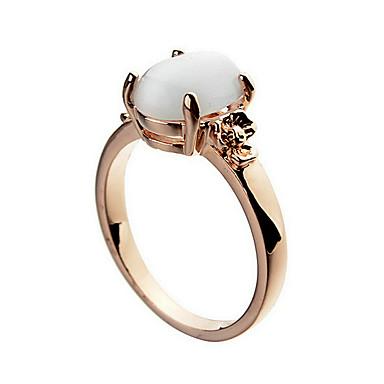 여성 밴드 반지 패션 지르콘 18K 금 오팔 합금 보석류 제품 파티 일상 캐쥬얼