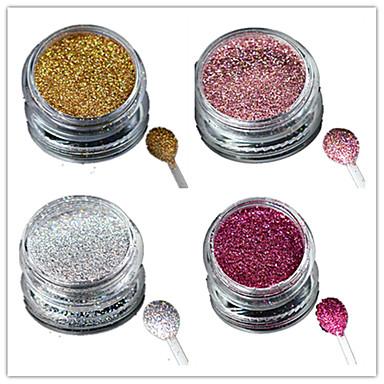 1pcs Akril por Nail Glitter Glitter por Púder Lézer holografikus Glitter & Sparkle Körömművészeti tervezés