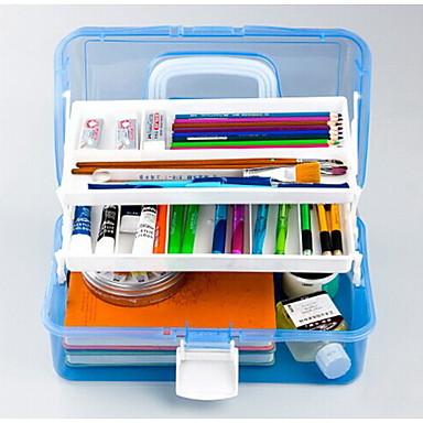 667 átlátszó műanyag eszköztár sokoldalú festmény művészeti festmény doboz tároló doboz három köröm box