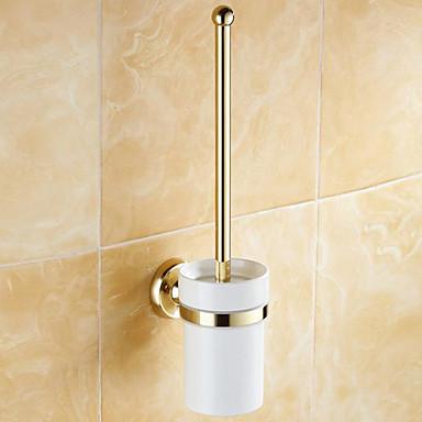 Suporte para Escova de Banheiro Clássica Latão 1 Pça. - Banho do hotel