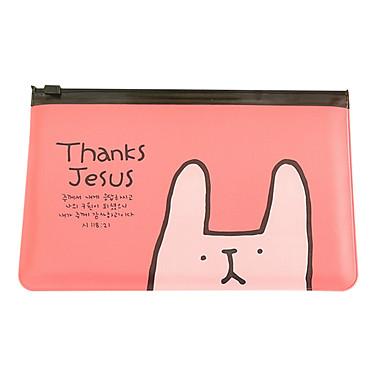 작은 토끼 투명 펜 가방