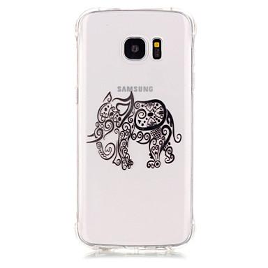 제품 Samsung Galaxy S7 Edge 케이스 커버 충격방지 도금 투명 뒷면 커버 케이스 코끼리 소프트 TPU 용 Samsung Galaxy S7 edge S7 S6 S5