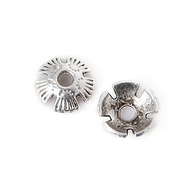 beadia 55pcs antik ezüst ötvözet gyöngyök sapka 8x2mm virág alakú távtartó gyöngyök