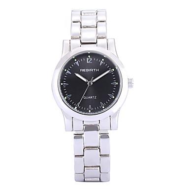 cheap Men's Watches-REBIRTH Women's Luxury Watches Wrist Watch Quartz Silver Hot Sale / Analog Ladies Casual Fashion Elegant - White Black Two Years Battery Life / Mitsubishi LR626