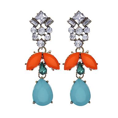 Damskie Dla dziewczynek Kryształ górski Imitacja diamentu - Luksusowy Vintage Modny Europejski Tęczowy Geometric Shape Kolczyki Na