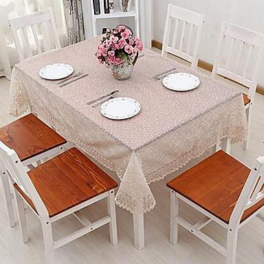광장 솔리드 플로럴 식탁보 , 폴리에스터 자료 호텔 다이닝 테이블