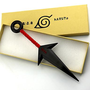 무기 / 검 에서 영감을 받다 나루토 Naruto Uzumaki 에니메이션 코스프레 악세서리 무기 화이트 / 레드 PVC 남성